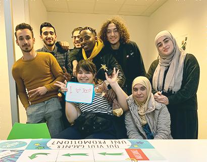 Groupe d'élèves durant la formation JEEP