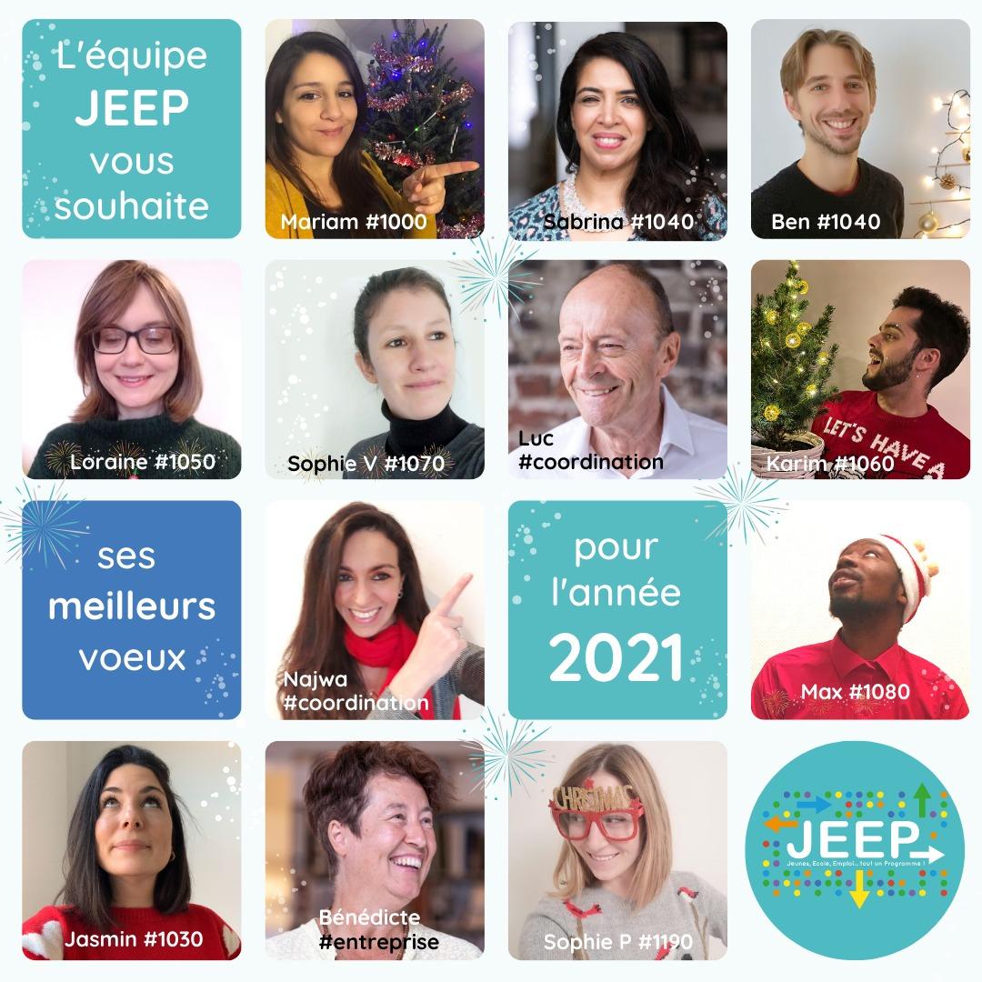 L'équipe JEEP vous souhaite ses meilleurs voeux pour l'année 2021